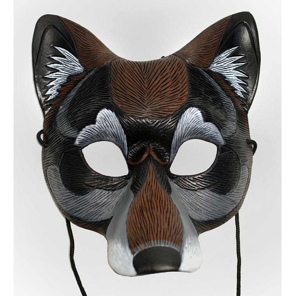 Second Face Mardi Gras Timber Wolf